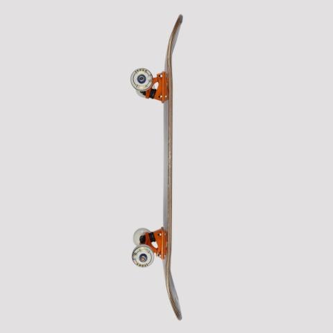 Skate Montado Allyb Monkey - Amarelo/Rosa
