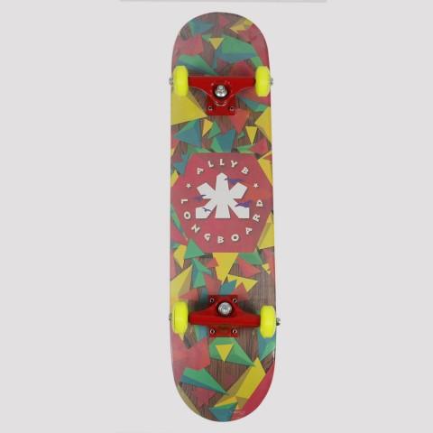 Skate Montado Allyb Triângulo - Amarelo/Verde/Azul/Rosa