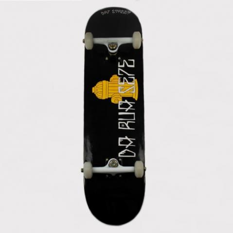 Skate Montado DR7 Hidrante Preto