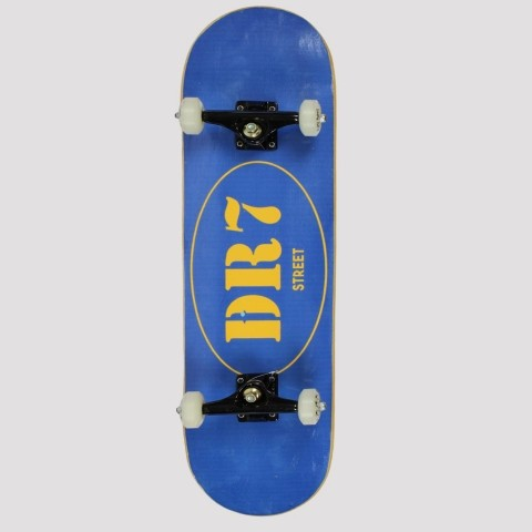 Skate Montado DR7 Logo Circle Azul