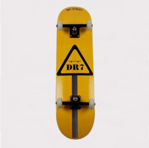 Skate Montado DR7 Placa Amarelo