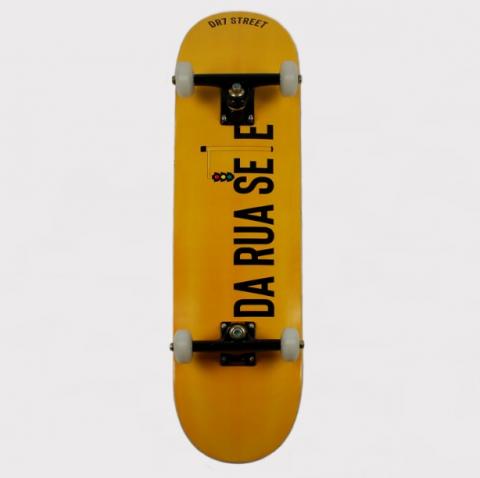 Skate Montado DR7 Sinaleiro Amarelo