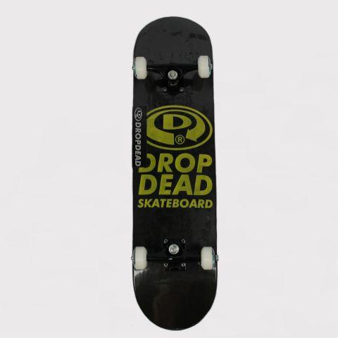 Skate Montado Drop Dead Amador NK3 Elipse - Preto/Amarelo