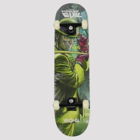 Skate Montado Kronik Charada Dc Comics - Verde/Roxo