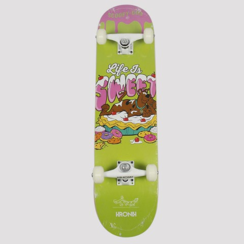 Skate Montado Kronik Scooby-Doo - Verde/Branco/Rosa