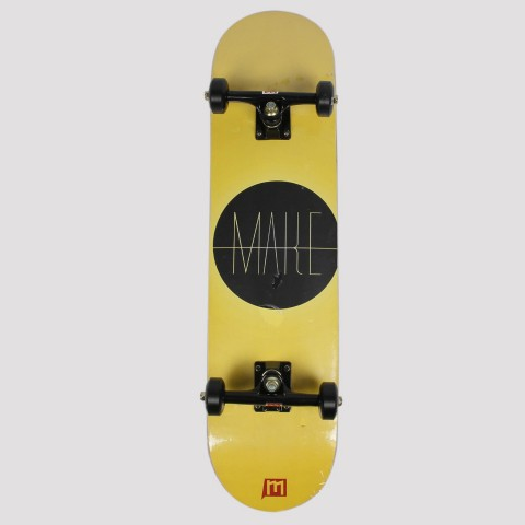 Skate Montado Make - Amarelo