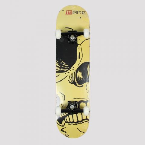 Skate Montado Make Half Skull - Amarelo/ Preto