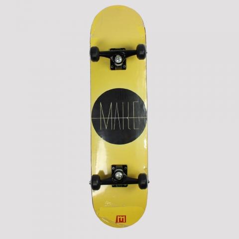 Skate Montado Make Logo Circle - Preto/ Amarelo