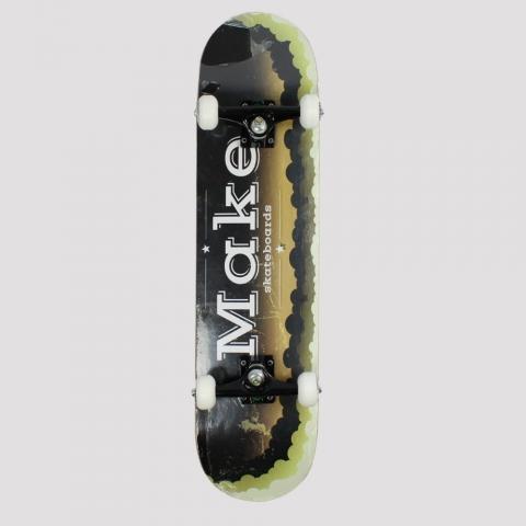 Skate Montado Make Logo Skateborarding - Verde/ Preto