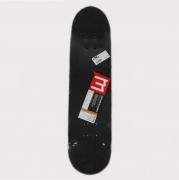 Skate Montado Make Preto/Vermelho