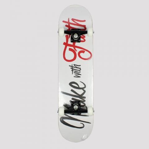 Skate Montado Make with Faith - Branco