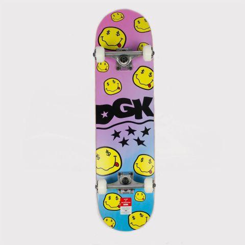 Skate Montado Maple DGK Smile 7.75 Lilas/Amarelo/Azul