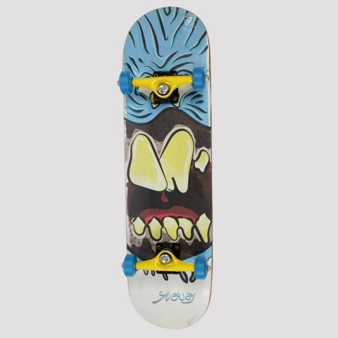 Skate Montado Snoway Blue Monster Abec 1