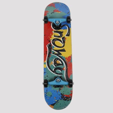 Skate Montado Snoway Colorido - Azul/Vermelho/Amarelo