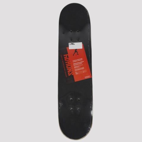 Skate Montado Snoway Monstro - Azul/Branco