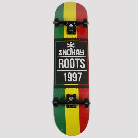 Skate Montado Snoway Reggae - Verde/Amarelo/Vermelho