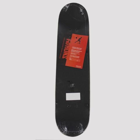 Skate Montado Snoway Rosas - Branco/Preto/Vermelho
