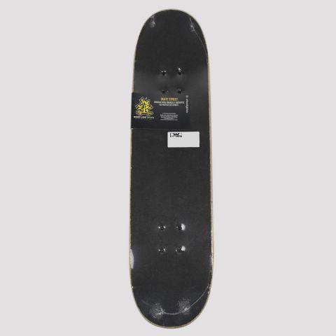 Skate Montado Wood Light Game Collection - Preto/Azul/Branco