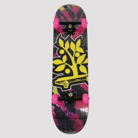 Skate Montado WoodLight Árvore  - Amarelo/Preto/Rosa
