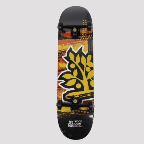 Skate Montado WoodLight Árvore - Laranja/Preto
