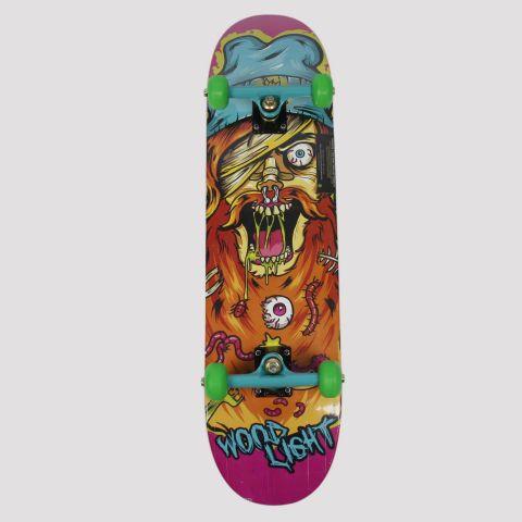 Skate Montado WoodLight Barbudo Louce - Roxo/Laranja/Azul