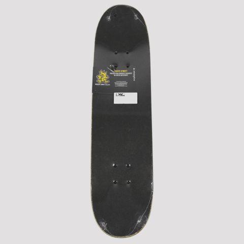 Skate Montado WoodLight Girl Tatto - Preto/Verde Água/Laranja