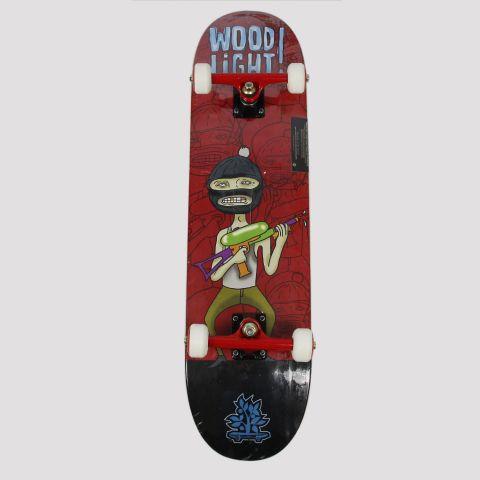 Skate Montado WoodLight Ninja Água - Vermelho