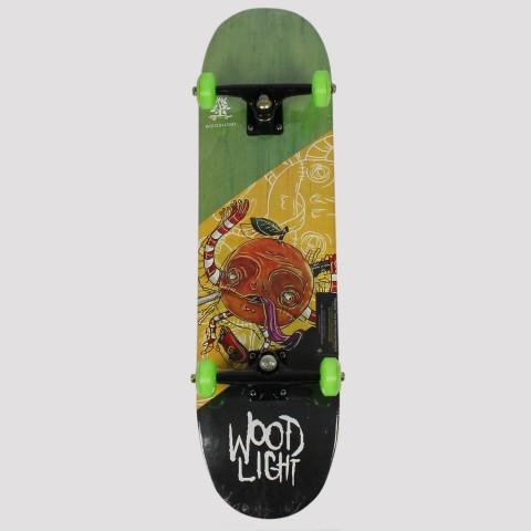 Skate Montado WoodLight Orange Crazy