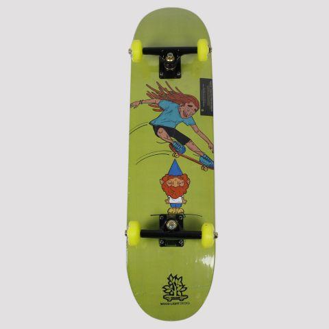 Skate Montado WoodLight Rasta - Verde/Preto/Amarelo
