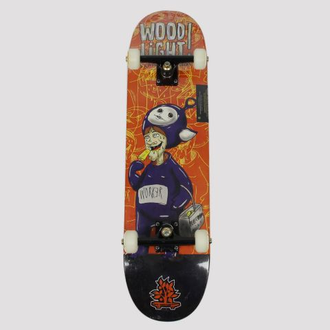 Skate Montado WoodLight Worker Ice Cream - Preto/Laranja/Roxo