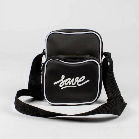 Shoulder Bag Save Emborrachada - Preta/Branco