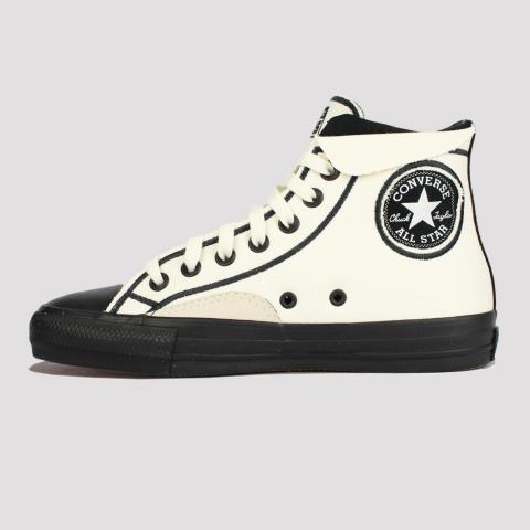 Tênis Converse All Star Chuck Taylor Pro - Marfim/ Preto/ Branco