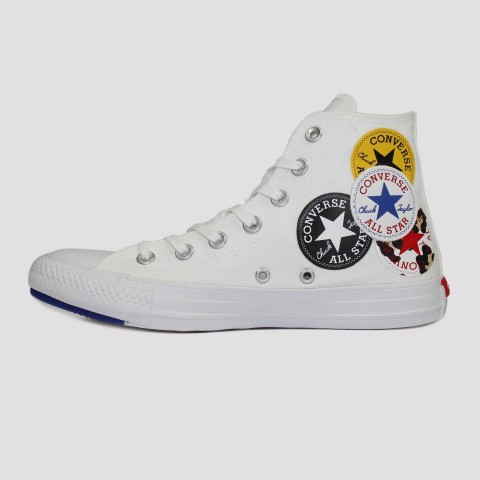 Tênis Converse All Star Chuck Taylor Hi Bottoms - Branco