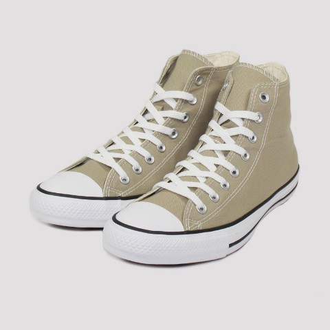 Tênis Converse All Star Chuck Taylor Hi - Caqui/Preto/Branco