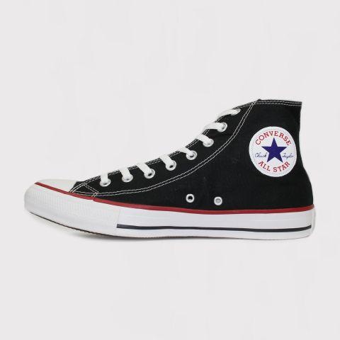 Tênis Converse All Star Chuck Taylor Hi Core Ox Preto Listra Vermelha