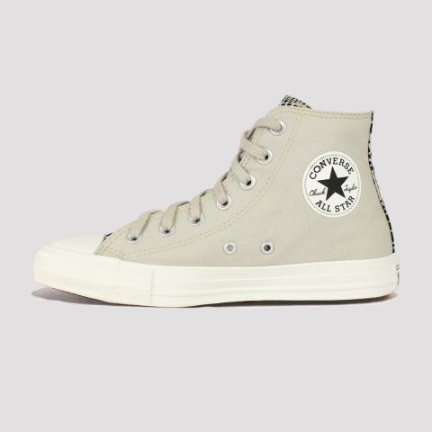 Tênis Converse All Star Chuck Taylor Hi Digital Daze - Bege Claro