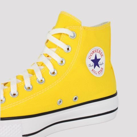 Tênis Converse All Star Chuck Taylor Hi Plataforma - Amarelo