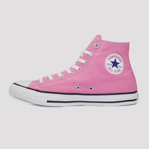 Tênis Converse All Star Chuck Taylor Hi - Rosa/Cru/Preto