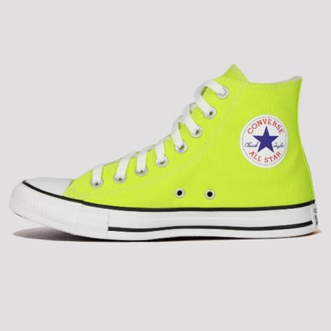 Tênis Converse All Star Chuck Taylor Hi Seasonal -  Amarelo Cítrico