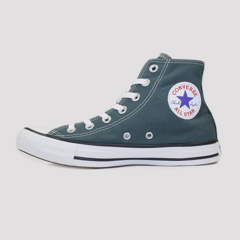 Tênis Converse All Star Chuck Taylor Hi - Verde Escuro/Preto/Branco
