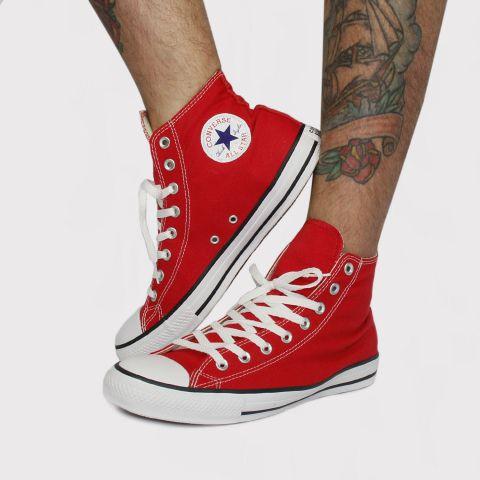Tênis Converse All Star Chuck Taylor Hi - Vermelho/Cru