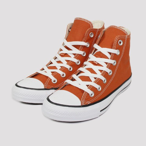 Tênis Converse All Star Chuck Taylor Hi - Vermelho Ferrugem/Preto/Branco