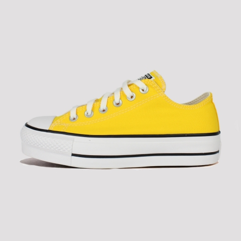 Tênis Converse All Star Chuck Taylor Plataforma - Amarelo