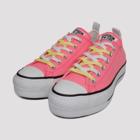 Tênis Converse All Star Chuck Taylor Plataforma - Rosa Fluor/Branco