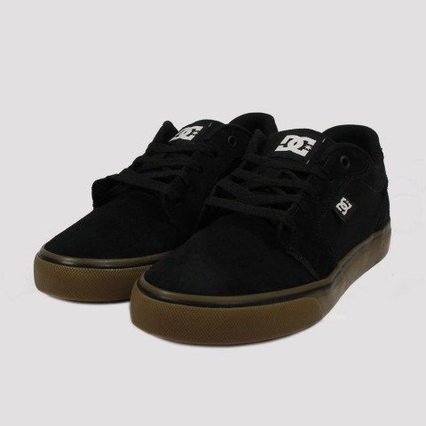 Tênis DC Shoes Anvil La - Black/Gum
