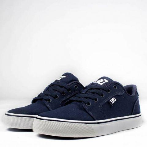 Tênis DC Shoes Anvil TX LA Azul Marinho/Branco
