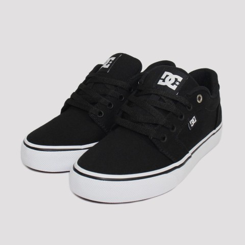 Tênis DC Shoes Anvil TX La - Preto/Branco