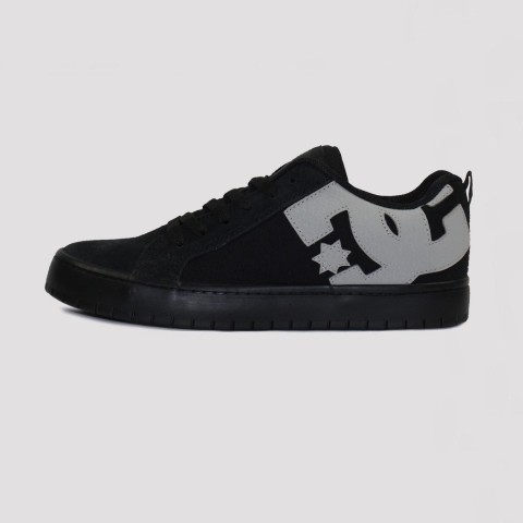 Tênis DC Shoes Court Graffik - Black/ Black