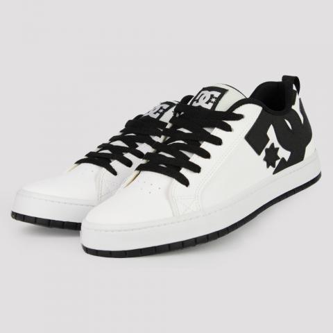 Tênis DC Shoes Court Graffik SD - White/ Black