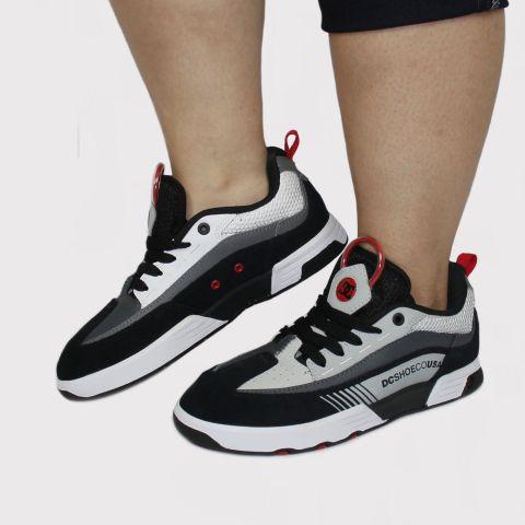 Tênis DC Shoes Legacy 98 Slim - Preto/Cinza/Vermelho
